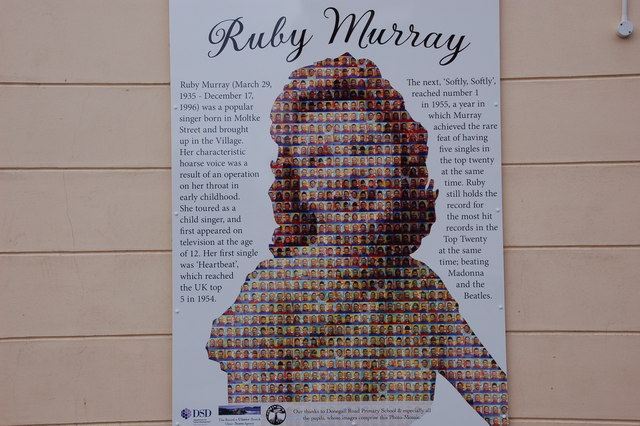 Photo of Ruby Murray white plaque