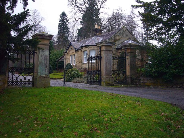Lodge and Entrance  to Dipton House