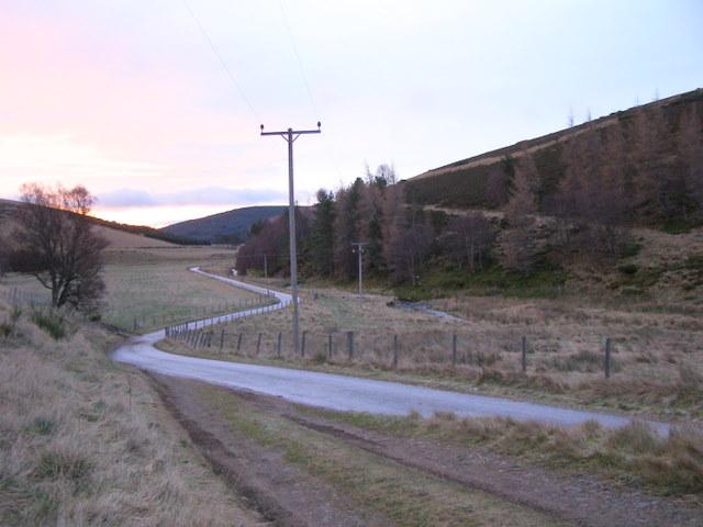 Glenbuchat road on a frosty morning