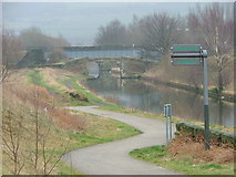 SE2320 : The start of the Spen Valley Greenway & the Calder & Hebble Navigation Canal by Nigel Homer