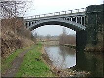 SE2320 : The Huddersfield to Dewsbury Railway crossing the Calder and Hebble Navigation by Nigel Homer