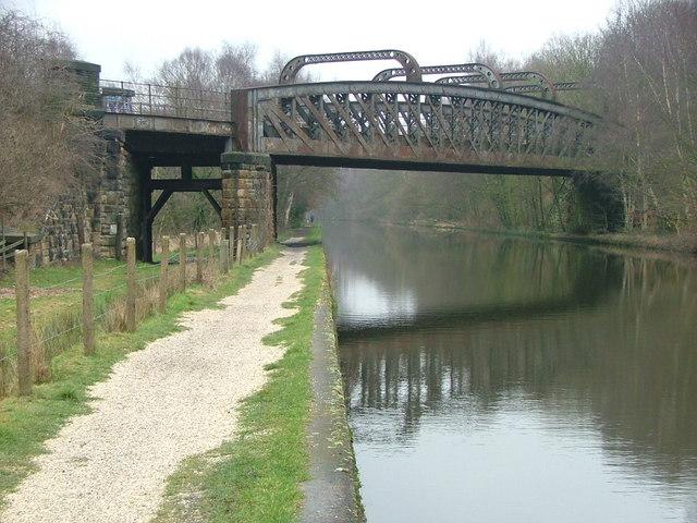 Disused Railway Bridge crossing the Calder & Hebble Navigation Canal