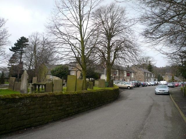 Ashover - Church Street view towards The Crispin Inn