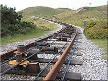 SH7783 : Tramway Curve above Half Way Station by John S Turner