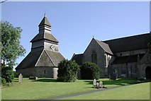 SO3958 : Bell tower & S Mary, Pembridge Heref. by John Salmon
