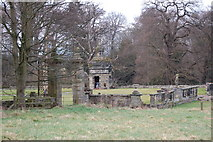 NZ1455 : Strange gazebo Hamsterley Hall by P Glenwright