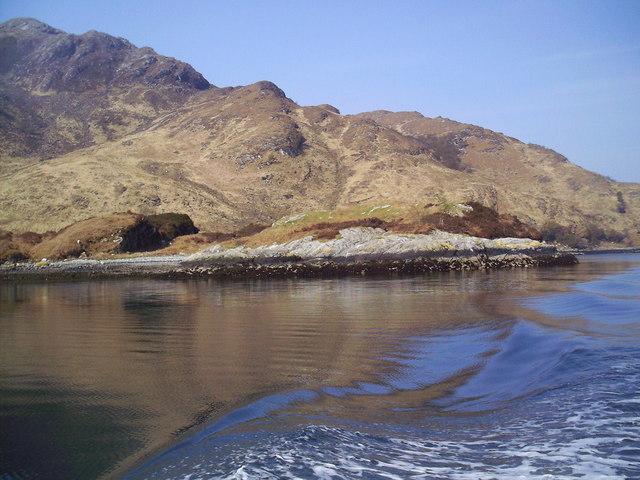Shore Line, Rubha Ruadh from Loch Hourn