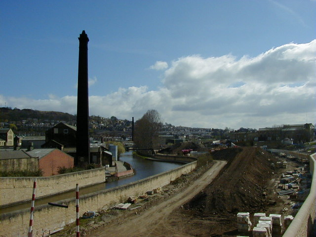Construction of Bingley relief road