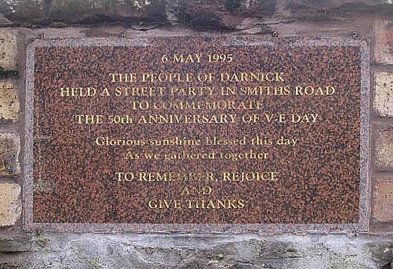 V-E Day commemorative stone