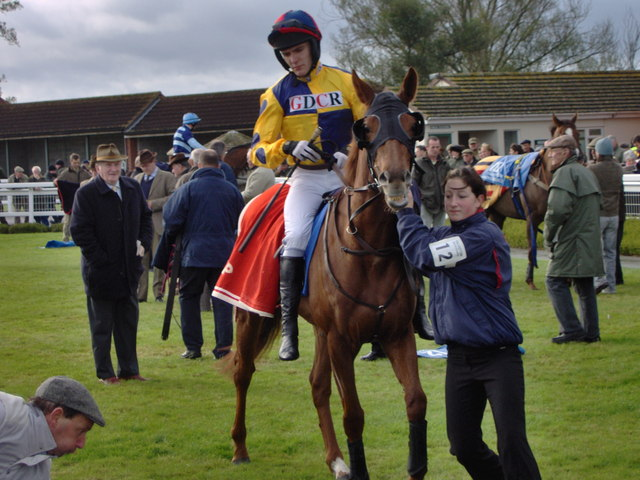 Martin Pipe in parade ring