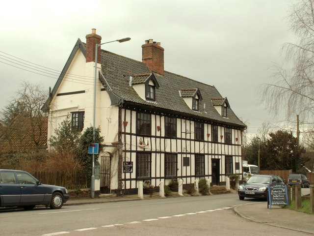 'The Crossways Inn' at Scole by Robert Edwards
