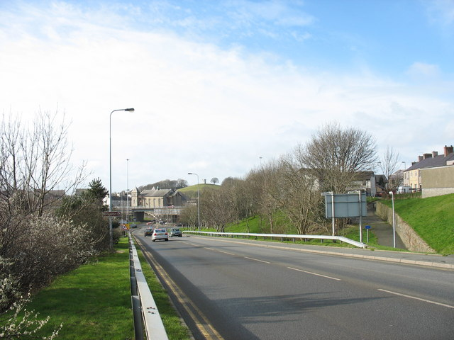 The flyover and Capel Salem from Tanrallt