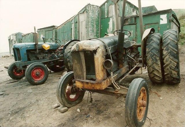 Fishermen's Tractors and Huts Skinningrove