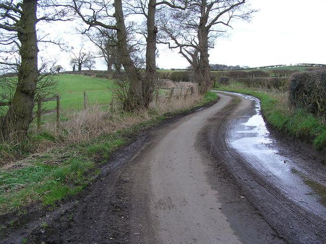 Moorleys Lane' leading to Parkside Farm