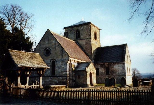 Bossall Church in the frosty morning sun