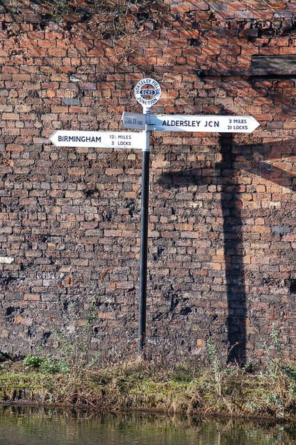 Horseley Fields Canal Junction Signpost