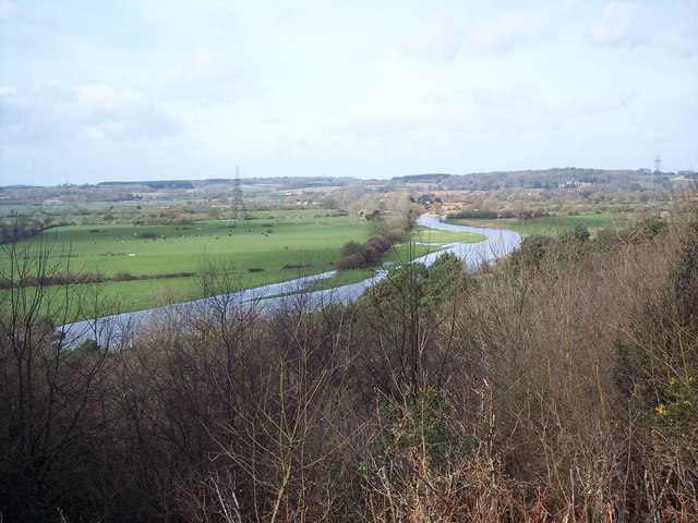 View of the River Avon from Castle Hill