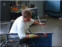 NZ4057 : Shaping hot glass at the National Glass Centre, Sunderland by Ken Walton