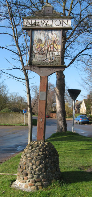 Village sign, Newton, Cambs