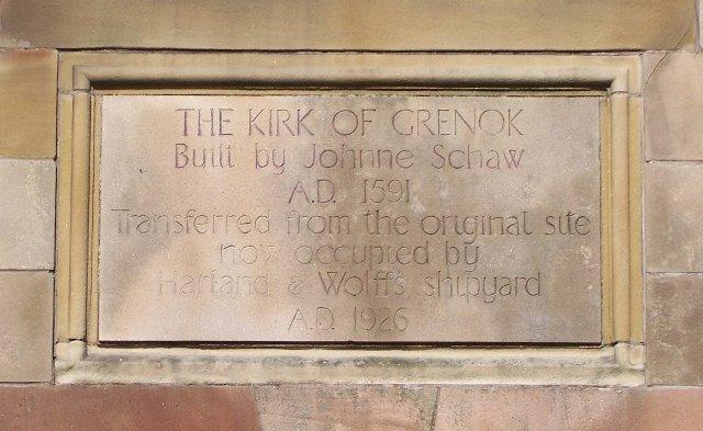 Inscription on Old West Kirk