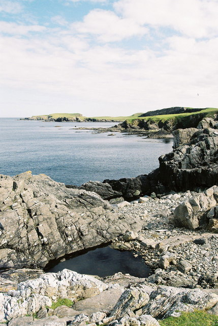Coastline from Valla Ness, Kirkabister, Shetland