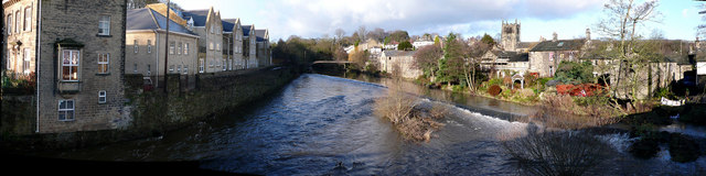 River Aire Bingley in Flood