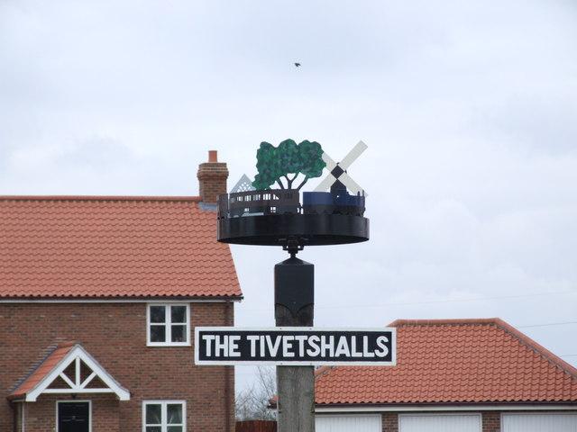 Village Sign, The Tivetshalls
