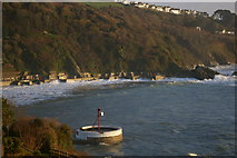 SX2553 : The exit from Looe harbour, with the eastern coast by paul johnson