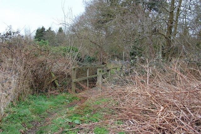 Footbridge over Hundred River, Aldringham