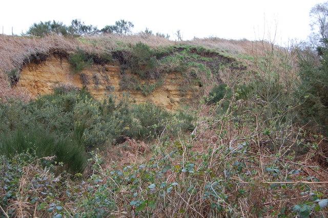 Disused pit near Aldringham