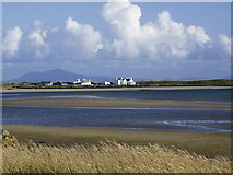 SH2975 : White houses by RAF Valley by Dave Robinson