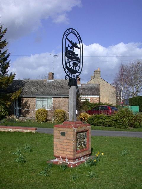 Oakington & Westwick Village Sign, Cambridgeshire