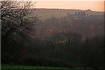 ST8707 : Bryanston School at twilight by Simon Barnes
