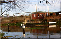 SO8453 : Diglis first lock flooded by Andrew Darge
