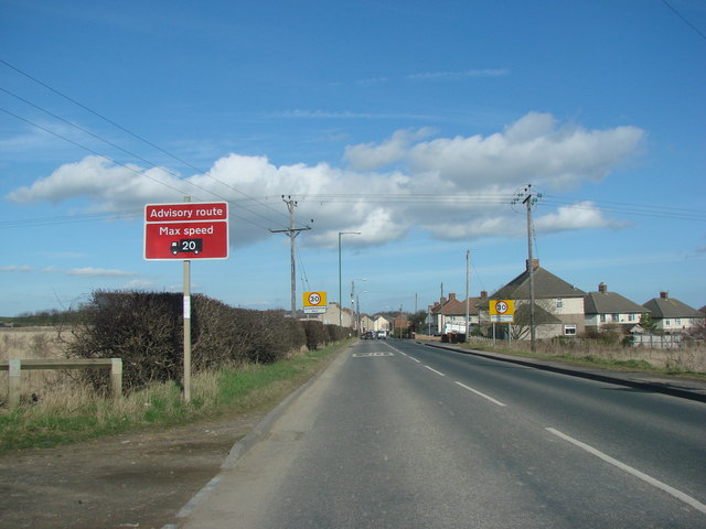 Entering Quarrington Hill from Coxhoe on the B6291