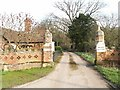TM1580 : Entrance and Gate House, Thelveton Hall by Richard Rice