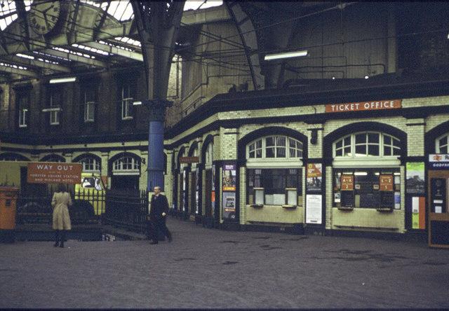 Bradford Exchange Station 1973  Booking Hall