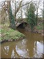 SJ6755 : Marshfield Bridge over Valley Brook by Espresso Addict