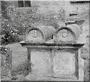SP1106 : Bibury St. Mary's - Tombstones by Alan Longbottom