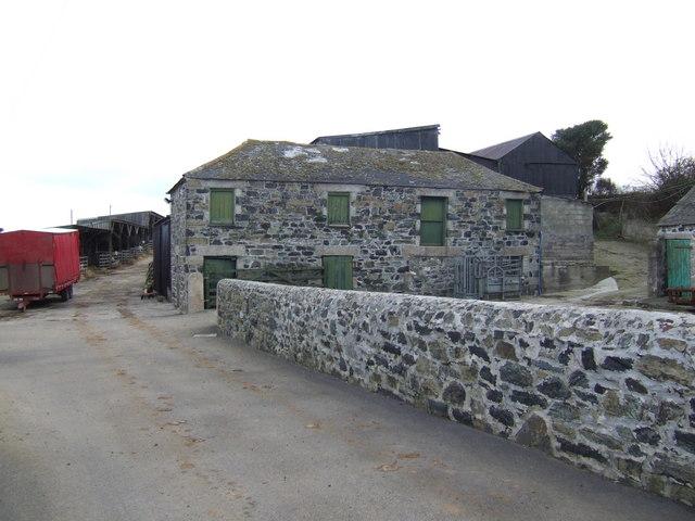 Stone barns at Tregaddra