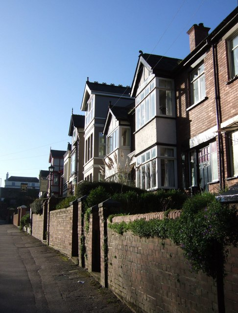 Houses on St David's Hill, Exeter