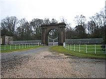 NS3586 : Gates to Rossdhu House by Eddie Mackinnon