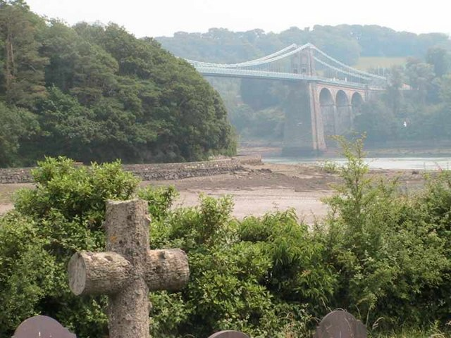 Menai bridge from Church Island