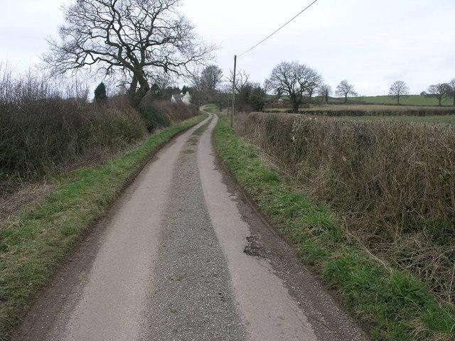 Winding Lane from Boylestone