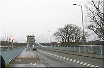 SH5571 : Pont y Borth (Pont Menai) from the Porthaethwy (Menai Bridge) end by Eric Jones