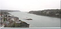 SH5571 : Afon Menai from Pont y Borth by Eric Jones