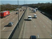 TQ2352 : M25 Eastbound at Walton Heath by John Hilton