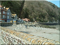 SS7249 : Outside the harbour at low tide  Lynmouth by Jill Everington