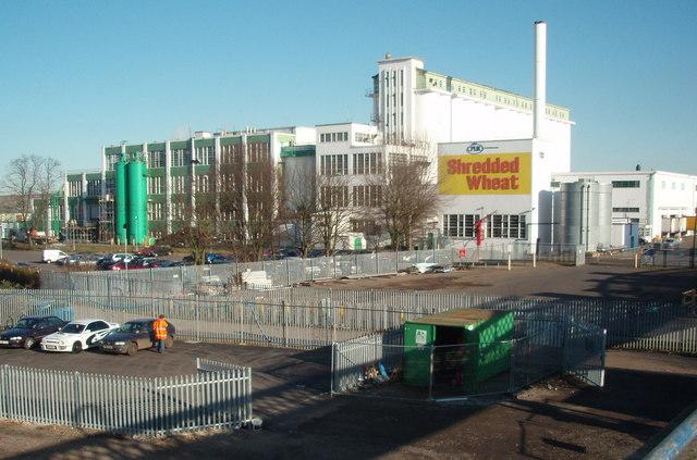 "The ""Shredded Wheat"" factory, Welwyn Garden City."