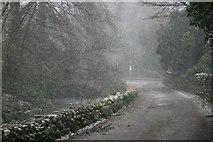 NY3916 : Grisedale Beck Bridge, Spring Snowstorm by Mick Garratt